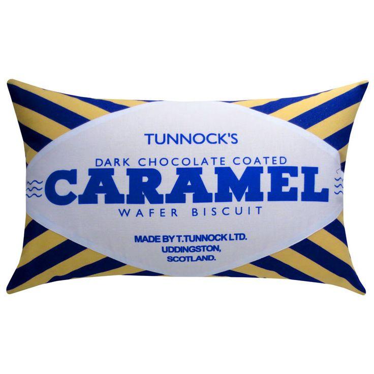 Tunnock's Dark Chocolate Caramel Wafer Printed Cushion – Nikki McWilliams
