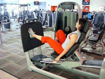Single Leg Squats on Leg Press Machine Exercise Demonstration via @SparkPeople