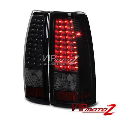 "2003-2006 Chevy Silverado 1500 2500 ""SINISTER BLACK"" Smoke LED Rear Tail Lights"