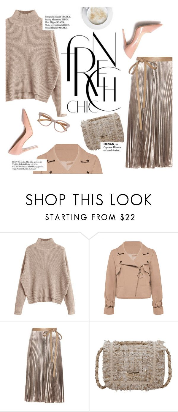"""""""French chic"""" by punnky ❤ liked on Polyvore featuring Valentino, Haute Hippie, M. Gemi and Linda Farrow"""