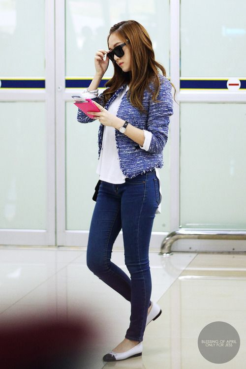 Love It So Chic Jessica Jung Jessica Jung Pinterest Airport Style Flats And Airport