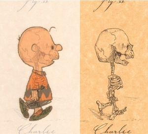 Love this series of anatomical drawings of cartoon characters by Michael Paulus