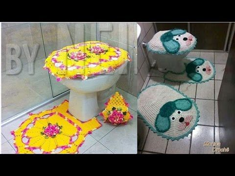 fotos de juegos de ba os tejidos a crochet youtube forros para za itsrios pinterest. Black Bedroom Furniture Sets. Home Design Ideas