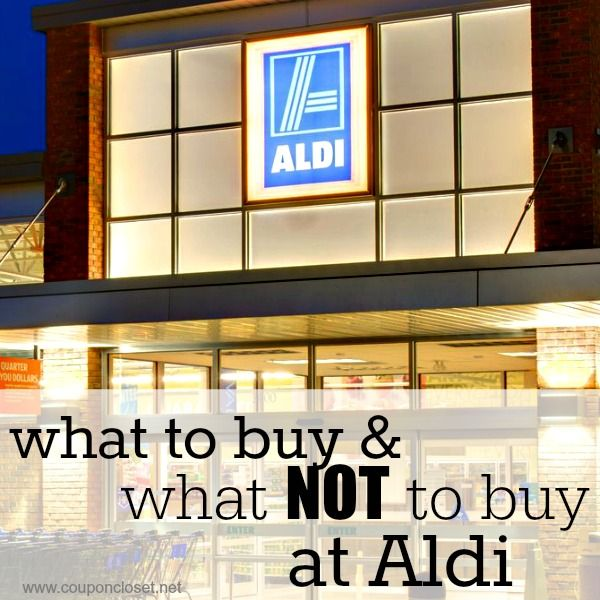 Aldi Grocery Store - read this post to know what you should buy and what you shouldn't buy to help you save money