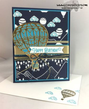 Stamps-N-Lingers.  2017 Occasions Catalog.  Lift Me Up Stamp Set, Up & Away Framelits, SAB Carried Away DSP. https://stampsnlingers.com/2016/11/16/stampin-up-lift-me-up-up-away-sneak-peek/