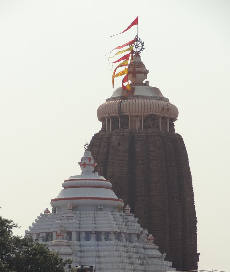 The spire of the Jagannath Temple at Puri