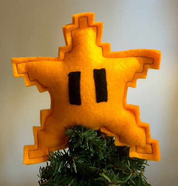 Super Mario Star - Christmas tree topper - This would be cute for a Mario themed tree for a kid's room.