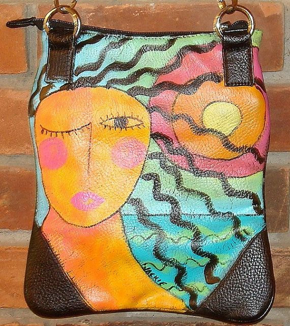 Thriftcycled Purse Refashion  Abstract Art