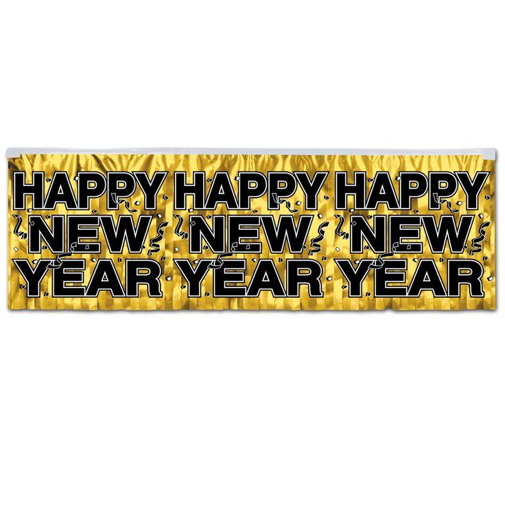 Tischvorhang Happy New Year Frohes neues jahr gif