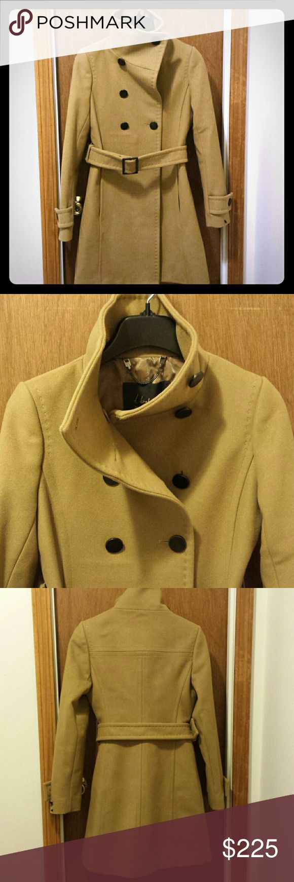 Aritzia Bromley coat Like new condition, bought in 2014 and worn twice during thanksgiving break. This coat is still available online but the fabric from 2014 is thicker, denser, more smooth than the current Bromley coat in stores. I was at an aritzia store recently and checked out the wool quality. This coat was made in Canada and costed the equivalent of 350$ USD, I'm selling for way less! Aritzia Jackets & Coats Pea Coats