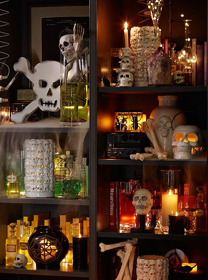 Get ready to decorate for Halloween with skulls, candles and more.
