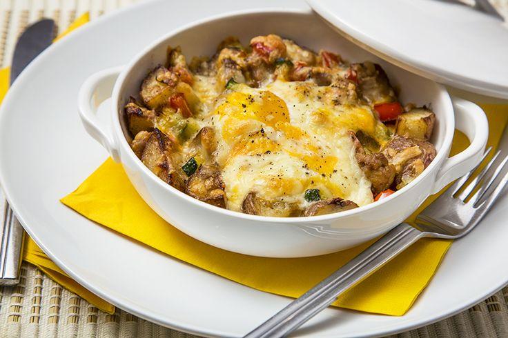 Gratin déjeuner pommes de terre et saucisse #recettesduqc #dejeuner #brunch