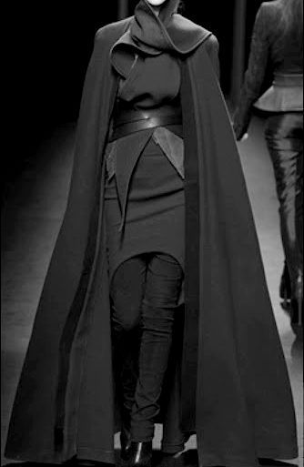 haider ackermann  looks to me like a scarf loosely wrapped and belted.  hmmm.