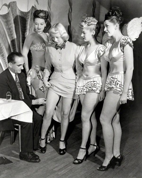 Прививка, 1947 год, Нью–Йорк, США прививка, девушки, США, 1947 год