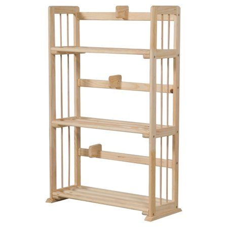 Furinno Fncl-33001 Pine Solid Wood 3-Tier Bookshelf, Beige