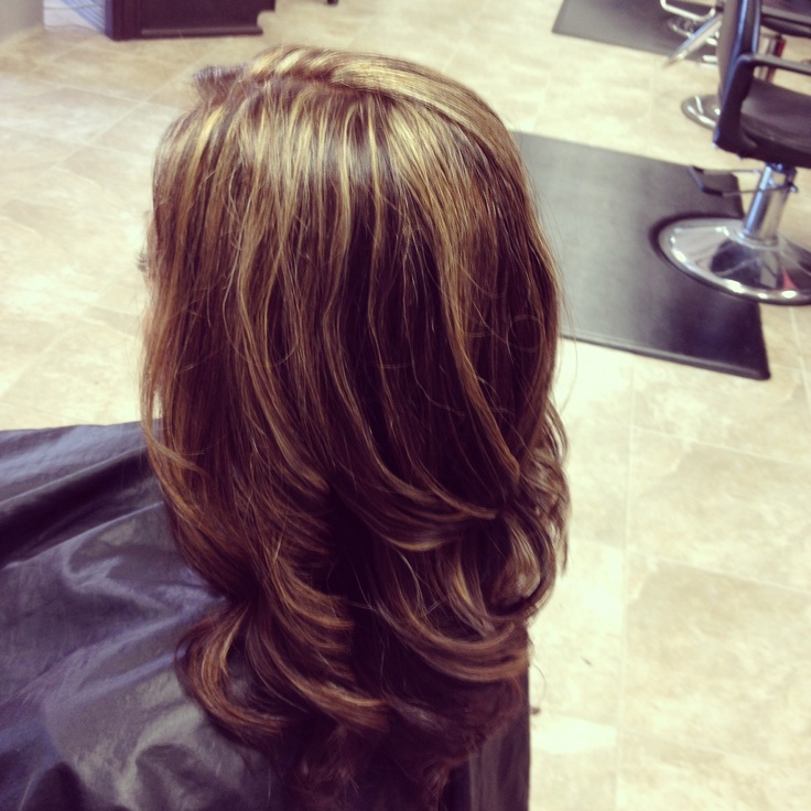 Brown Red Base With Caramel Highlights By Audrey Miller