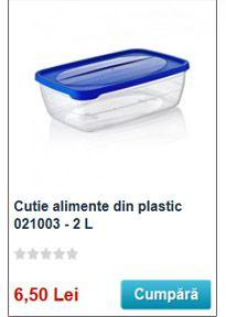 cutie alimente din plastic transparent