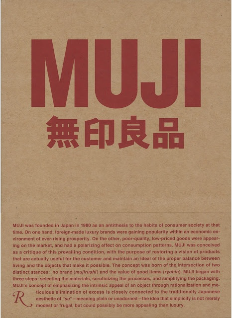 Muji uses recycled materials for their products and their paperbags. I want to keep this consistent with their advertisements.
