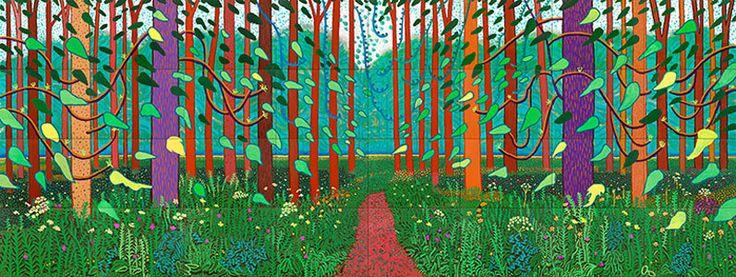 David Hockney: The Arrival of Spring in Woldgate, East Yorkshire in 2011 (twenty eleven) – 2 January