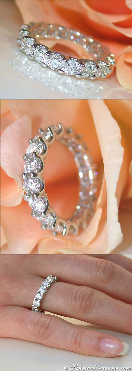Terrific Diamond Eternity Ring, 3,31 cts. g-si, WG14K - Visit: schmucktraeume.com - Like: https://www.facebook.com/pages/Noble-Juwelen/150871984924926 - Mail: info@schmucktraeume.com