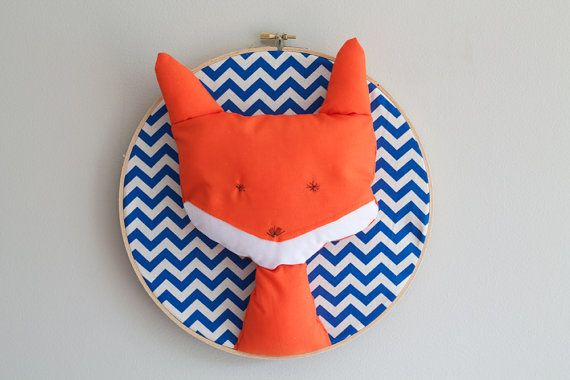 Fun Fox Trophy Head Wall Art by GloriousBandits on Etsy, $40.00 (NZD). Perfect for the home, workspace or nursery.