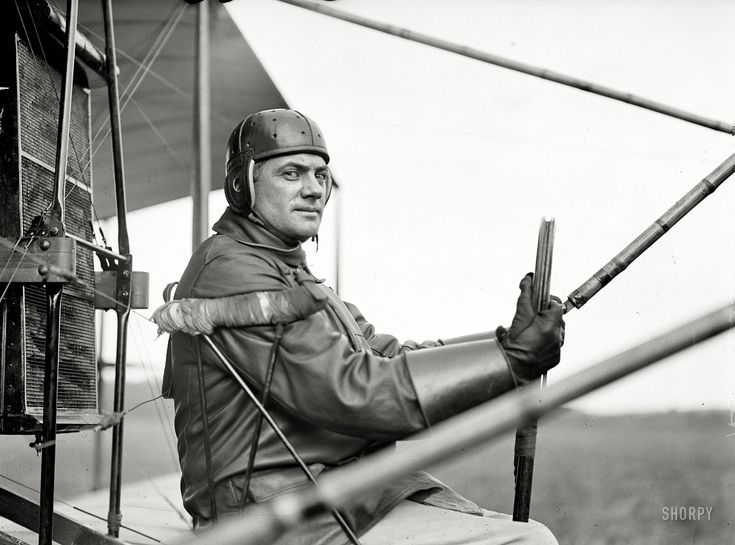 """College Park, Maryland, 1912. """"Aviation, Army. College Park aviation field, 2nd season. Capt. F.B. Hennessy, Curtiss plane."""" Shorpy Historical Photo Archive :: Ready for Takeoff: 1912"""