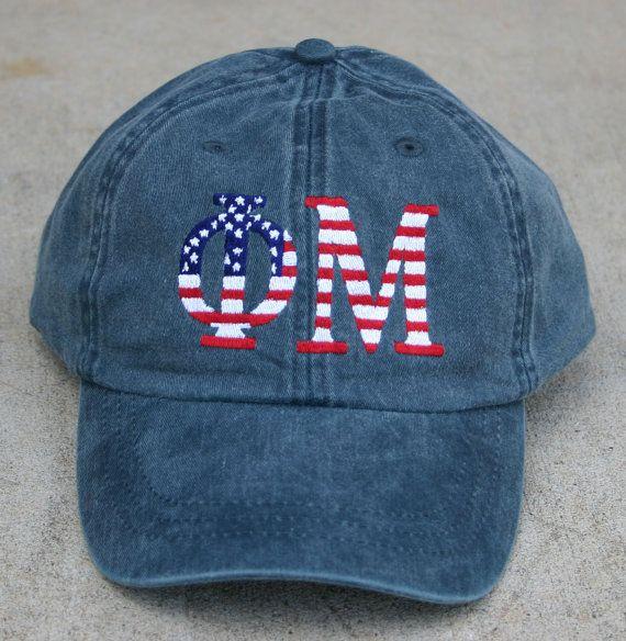 Phi Mu American Flag Cap by hyunich on Etsy