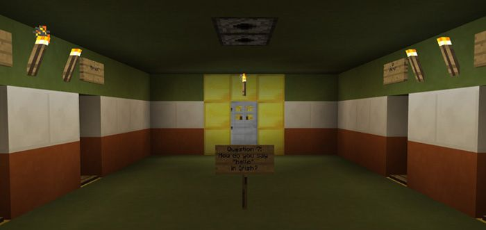 This famous celebration is hold to welcome Christianity and Saint Patrick. Let's discover Irish culture now. How to Play St. Patrick's Day Trivia [Minigame] Map Founded by: MegaVSPrime Step on the pressure plate and try to figure the correct door. It is a great opportunity to help you move to the... https://mcpebox.com/st-patricks-day-trivia-minigame-map-minecraft-pe/