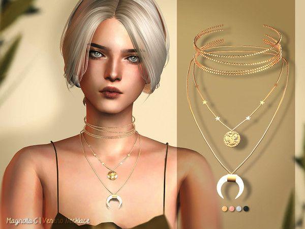 Magnolia-C – Veneno Necklace for The Sims 4