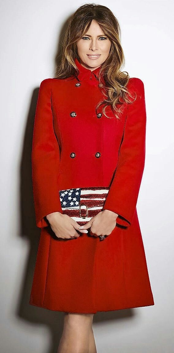 Patriotic Perfection First Lady Melania Trump