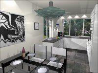 visual 3 - U-Keuken 265x275x307cm, keukenmeubelen, 5 inbouwapparaten, composiet werkblad