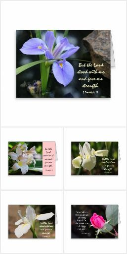 Sympathy Cards with Scripture Verse:  A pretty selection of floral sympathy notes, with comforting scripture verses.