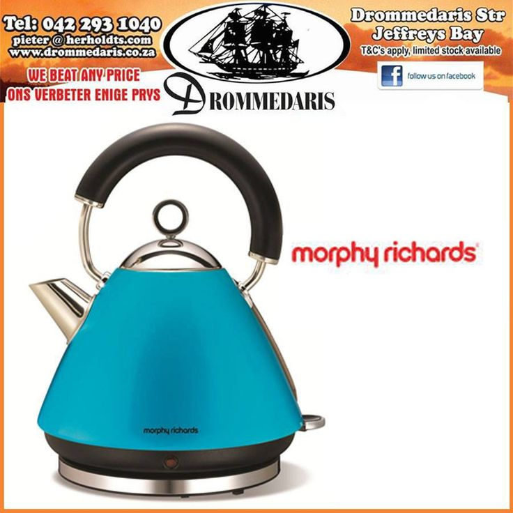 Brighten up your lifestyle with our range of stylish coloured Morphy Richards products, like this kettle that would work perfectly to add some colour to your kitchen. #appliances #lifestyle #homeimrovement