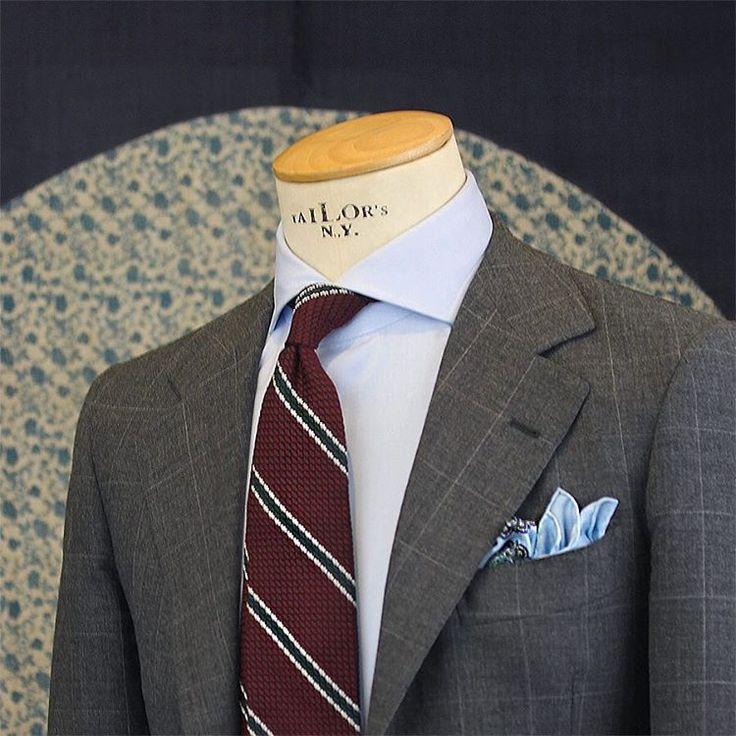 "Benedikt Fries on Instagram: ""@shibumiberlin burgundy garza grossa grenadine tie. Now available online on shibumi-berlin.com #menswear #shibumi #bespoken"""