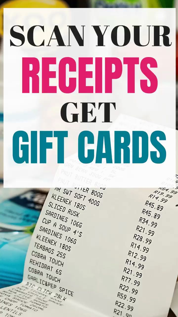 Free gift cards for your receipts fetch rewards app