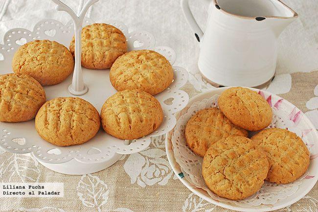 Galletas de azúcar moreno al aroma de azahar y coco. Receta
