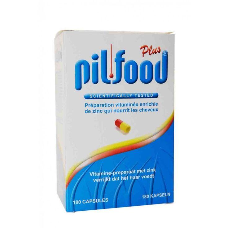Pilfood Plus Capsules Haaruitval 180Caps  Pil-Food Plus Vitamine-preparaat met zink verrijkt dat het haar voedt. Dankzij de gecombineerde doeltreffendheid van haar bestanddelen bevordert Pil-Food Plus de groei van het haar en verbetert ze het bevoorraden van de haarwortels met de nodige grondstoffen. Ze bezorgt het organisme zwavelhoudende aminozuren onmisbare vitaminen voor de groei van het haar en de nagels en giersextract reeds lang bekend als bevorderende factor voor de groei van het…