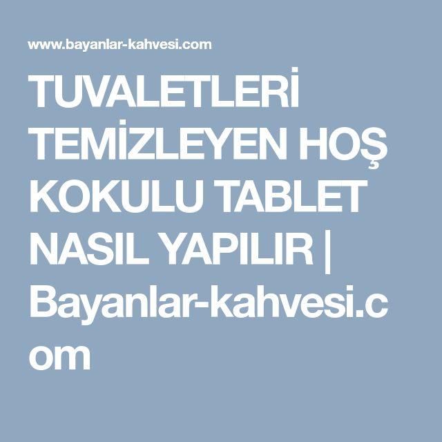 TUVALETLERİ TEMİZLEYEN HOŞ KOKULU TABLET NASIL YAPILIR | Bayanlar-kahvesi.com