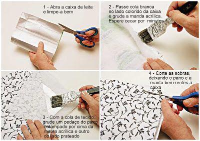 Ideias Criativas: Carteira de Luxo Feita com Caixa de Leite - Passo a Passo