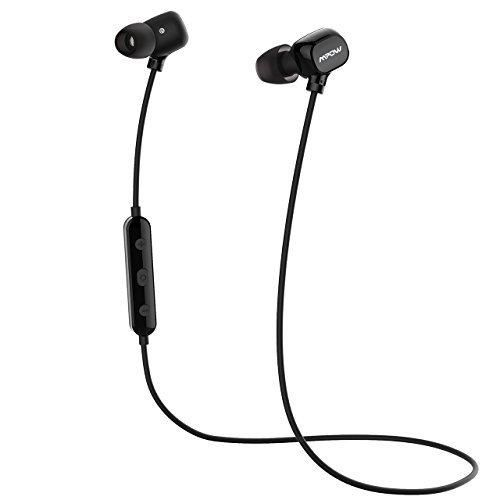 Mpow MPBH059AB Bluetooth Headphones Over Ear Hi-Fi Stereo Wireless Headset Foldable Soft Memory-Protein Earmuffs with Built-in Mic and Wired Mode for PC/ Cell Phones/ TV
