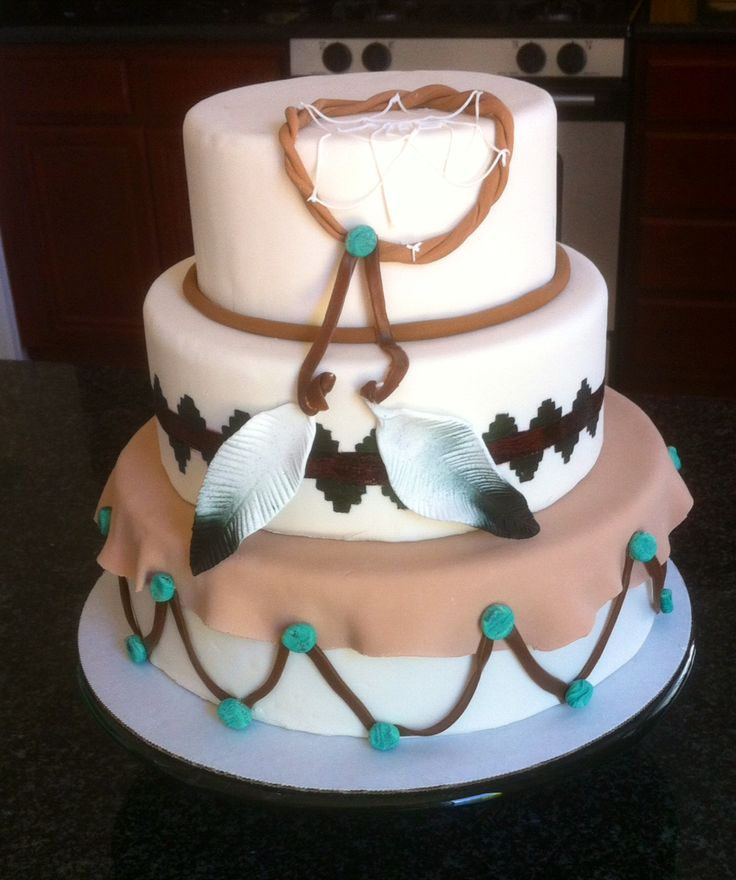 Native American wedding cake