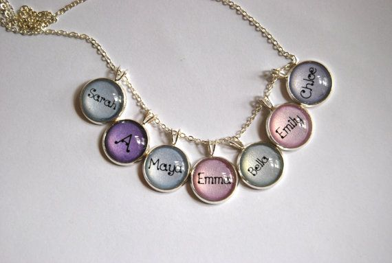 mothers day gift idea; Name Charm Pendant. by KookkiDesignStudio, $10.00