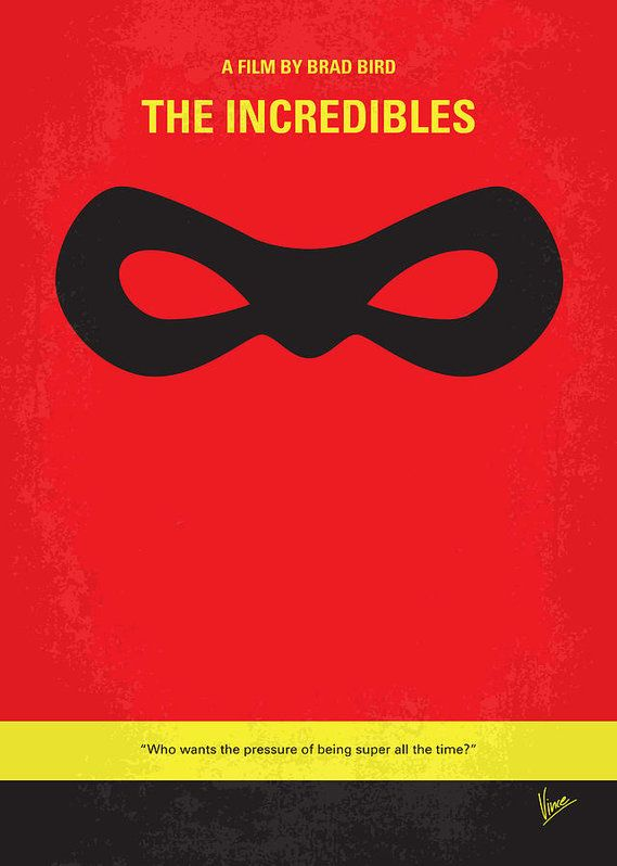 No368 my incredibles minimal movie poster art print the for Art minimal facebook