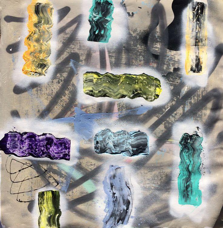 Jordi Gali - ABCD (2015) - 0,60x0,60m - Mix media on canvas