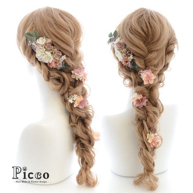 Gallery 140  Order Made Works Original Hair Accesory for WEDDING #byPicco  #ナチュラル で#上品 な#アンティーク #カラー をセレクト#ウェディング#ドレス にぴったり#ラプンツェル 風スタイル  #オリジナル#オーダーメイド#髪飾り#結婚式#ドレス#挙式  #花飾り#イベント#ブライダル#造花#ヘアセット#三つ編み#花嫁 #hairdo#flower#event#antique#rapunzel#disney#dress