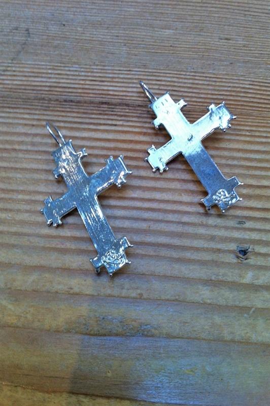 Byzantine cross earrings from Fiorina