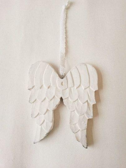 White angel wings wooden angel wings angel wings by ClarasHandMade
