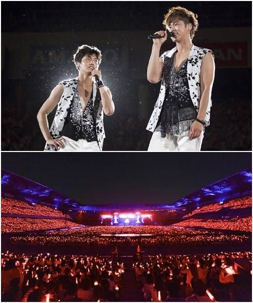 TVXQ at Nissan stadium with 72000 fans