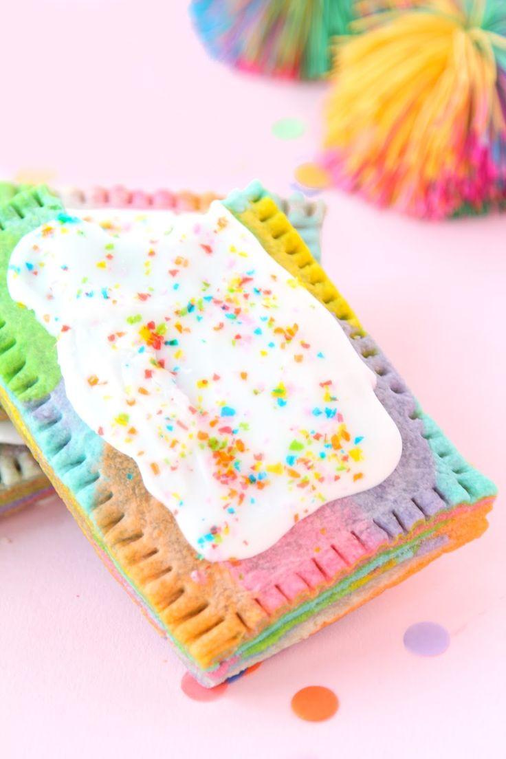 » Rainbow Marbled Pop Tart Recipe