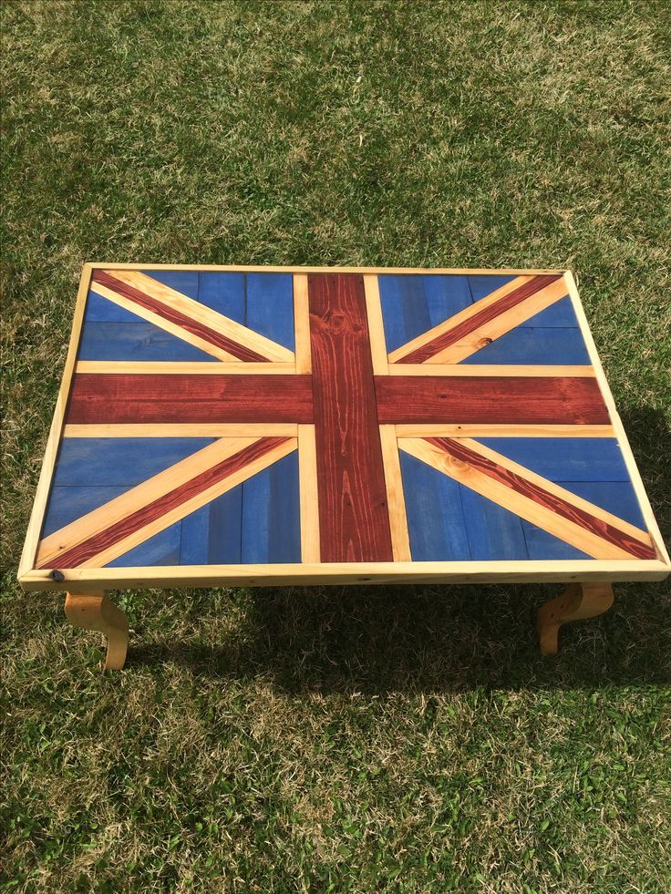 Union Jack Coffee Table Reclaimed Pallet Wood Resin Pour